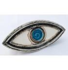 Ceramic evil eye sculpture table art